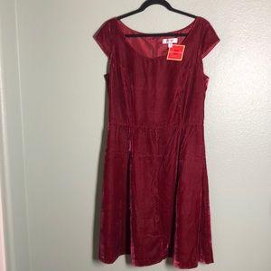 ISAAC MIZRAHI Velvet Dress